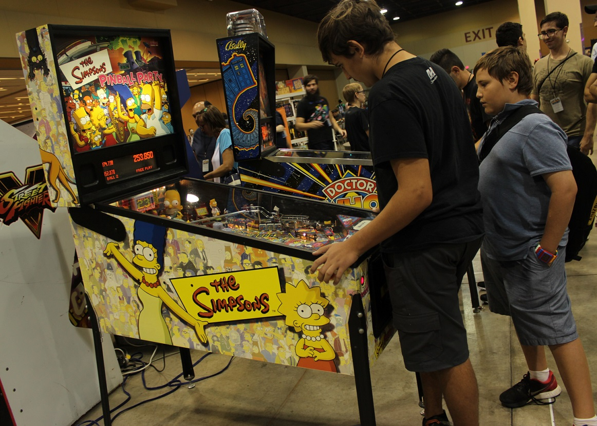 Pinball also proved a hit at the gaming convention. Photo by Justin Franco.