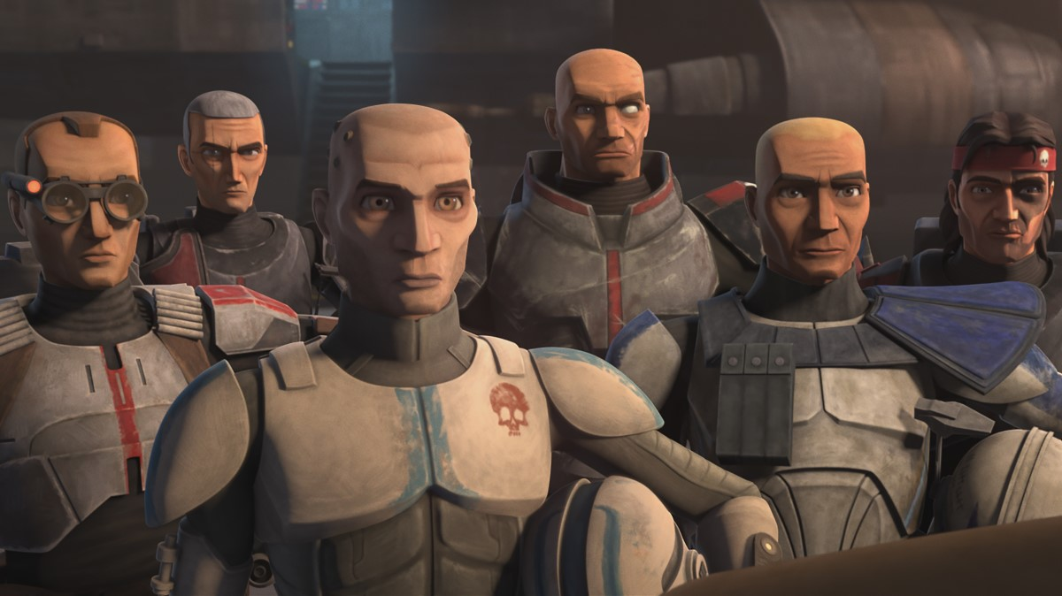 Jedi Mace Windu joins the Bad Batch and Captain Rex in an attack against separatist forces in STAR WARS: THE CLONE WARS, exclusively on Disney+.